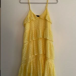 Yellow polka dot dress - never worn